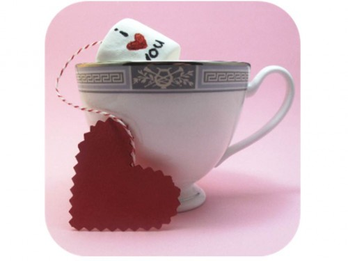 Chamallows de la Saint-Valentin {version sachet de thé} my cooking blog