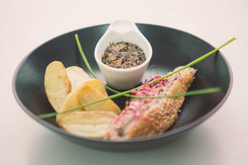 canette farci aux champignons et pommes grenailles,my cooking blog