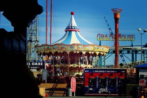 Atlantic city, le Steel Pier parc d'attraction