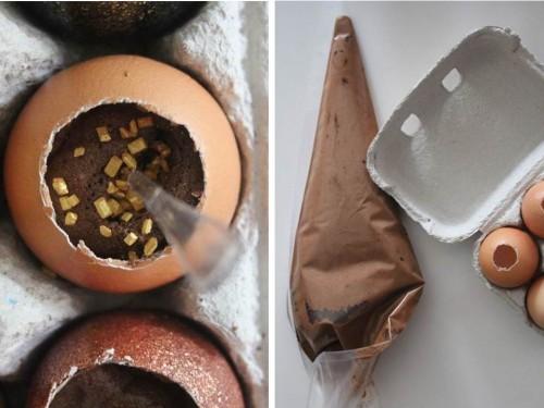 diy {mousse au chocolat dans sa coquille d'œuf}