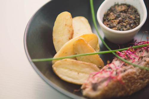 canette farcie aux champignons et pommes grenailles,my cooking blog
