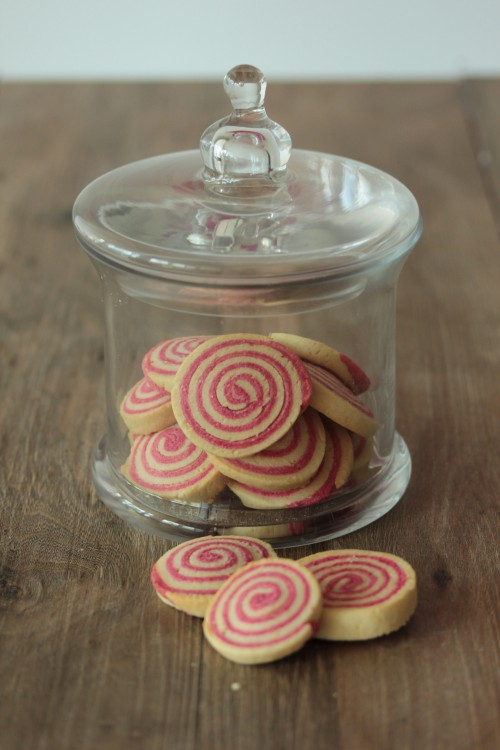 biscuits tourbillons vanille  fraise