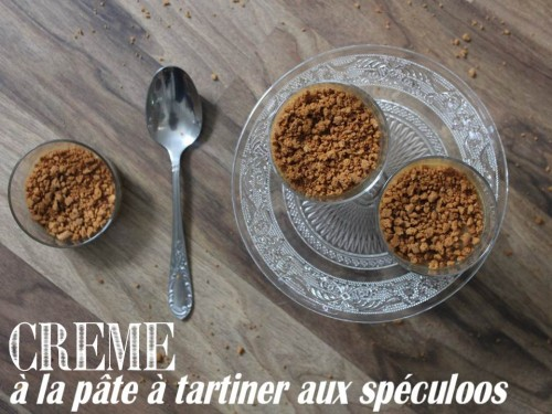 crème à la pâte à tartiner aux spéculoos