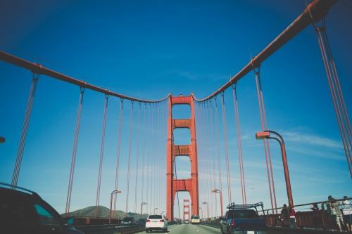le pont de san francisco,pont du golden gate,vu sur le pont de san francisco,voyage a san francisco