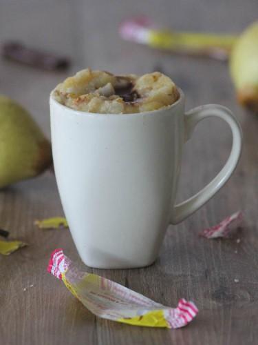 mug cake poire et carambar