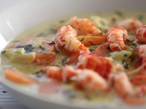 nage safranée d'écrevisses aux légumes,nage safranée d'écrevisses,recettes de fêtes