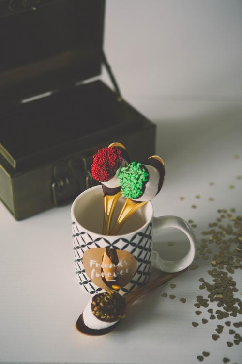 sucette chocolat et chamallow pour chocolat chaud