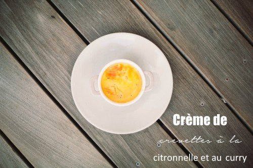 crème de crevette à la citronnelle et au curry