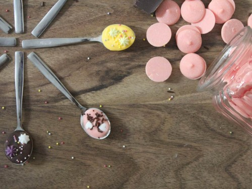 cuillères de fête en chocolat,spoon party chocolat