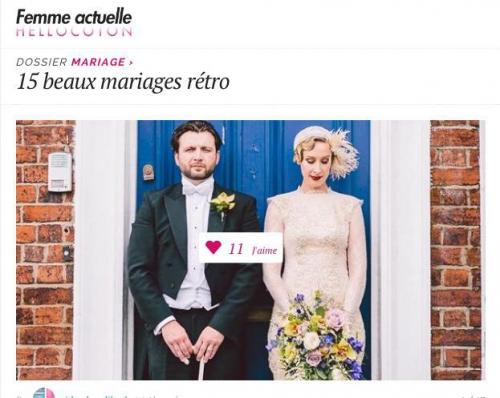 http://www.hellocoton.fr/inspiration-et-idees-mariage-retro-g1054, 15 beaux mariages retro, mariages sur hellocoton, mariage retro hellocoton, idées de mariages rétro, la une famille sur hellocoton, my cooking blog, aude arnaud photography,