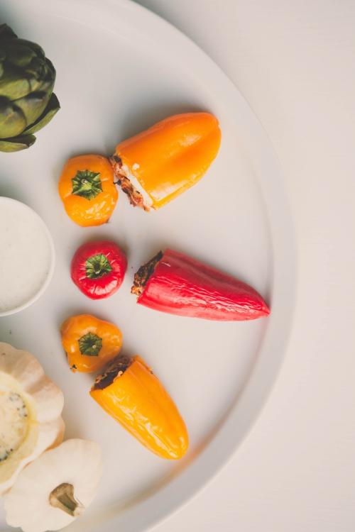 déclinaison de mini légumes,flamant rose le blog,mini potiron farci,mini poivron farci,mini aubergine farci,mini artichaut à la crème