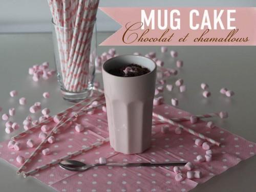 mug cake au chocolat et aux chamallows,mug cake coeur fondant au chocolat et aux chamallows,mug cake