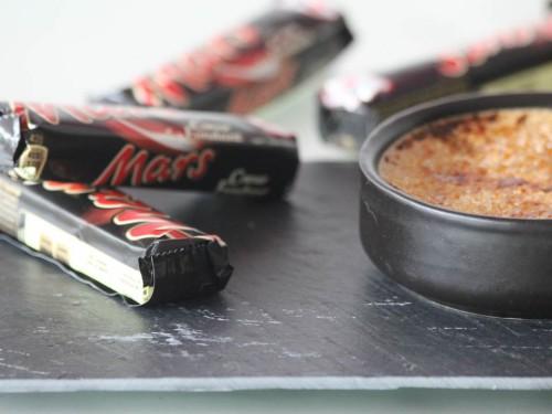 crème brulée au mars,recette mars,le grand livre des marques cultes