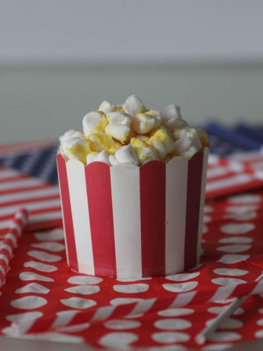 pop-corn cupcake,cupcakes version pop-corn