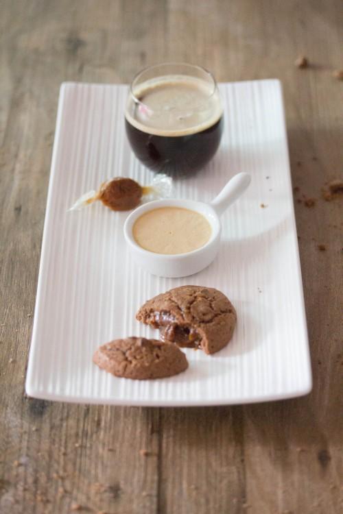 café gourmand caramel,gourmesso capsules,bonbon au caramel beurre salé,crème au caramel beurre salé,cookie chocolat & cœur au caramel au beurre salé.
