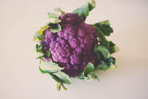 velouté de choux fleur violet et chips de coppa,my cooking blog