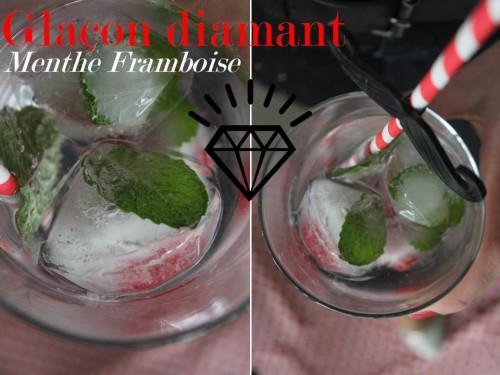 glaçon diamant framboise menthe