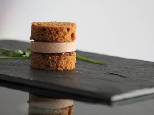 Mini burger de pain d'épices, foie gras & confit de figues, my cooking blog
