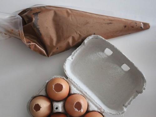 diy {brownie dans sa coquille d'œuf}