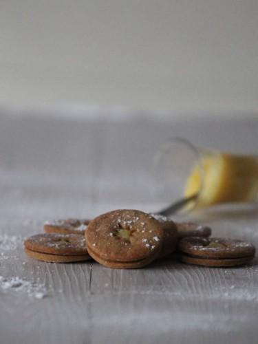 sablés lemon curd,sablés à la crème de citron