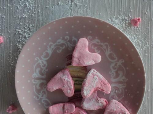 cadeau de saint valentin fait maison,cœurs de guimauves,guimauves fait maison