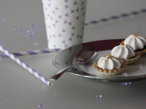 mini tartelettes au chocolat meringuées,tartelettes au chocolat meringuées