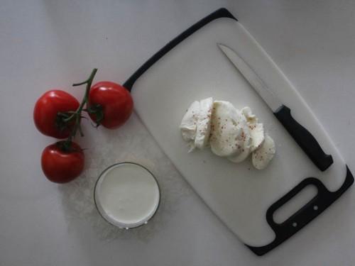 tomates mozzarella façon panna cotta