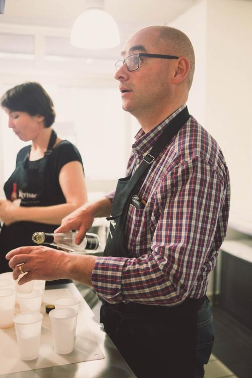 kerisac voit la vie en rose,cidre rosé kerisac,kerisac de glace,kerisac atelier des chefs nantes,my cooking blog,langoustines laquées au cidre cidre rosé kerisac et légumes croq,filet de canette aux pommes,miel acidulé de cidre brut kerisac et écrasé de pommes de terre,poire pochée aux épices,émulsion au kerisac de glace