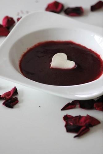 Cœurs crémeux & sauce à la fraise {valentine's day} my cooking blog