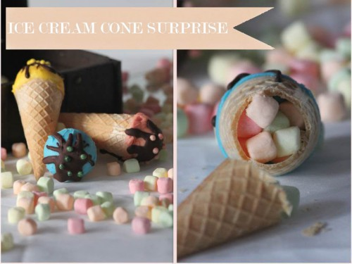 cornet de glace surprise,ice cream cone surprise,pinata cornet de glace,cornet de glace version pinata