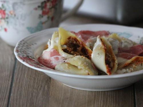conchiglionis farcis,conchiglionis au four,conchiglionis farcis aux tomates séchées,parmesan et mozzarella