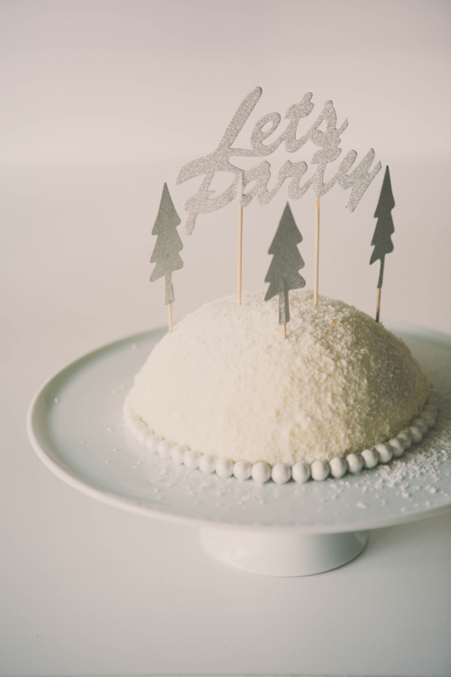 dôme enneigé vanille coco,cake vanille coco,dome en cake,cake enneigé,cake coco