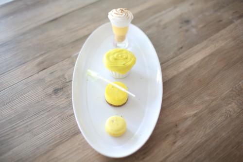 le citron dans tous ses états,macaron au lemon curd et sucre pétillant,cheesecake au citron et sirop aux zestes de citron,cupcake citron et coco,glaçage citron et cream cheese,tarte au citron meringuée revisitée
